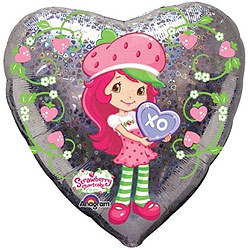 Strawberry Shortcake Foil Heart Balloon