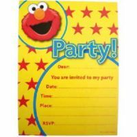 Elmo Invitation & Envelopes