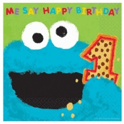 Sesame Street Cookie Monster 1st Luncheon Napkins