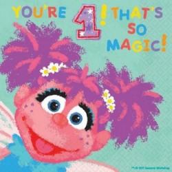 Sesame Street Abby Cadabby 1st Napkins
