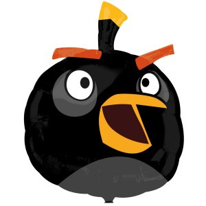Angry Birds Black Bird Foil Balloon