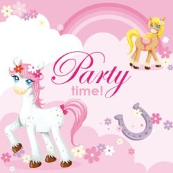 Pretty Pony Beverage Napkins