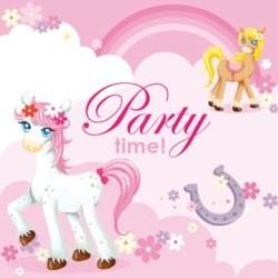 Pretty Pony Beverage Napkins