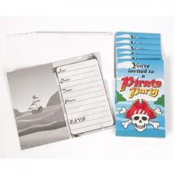 Pirate Boy Invitations & Envelopes