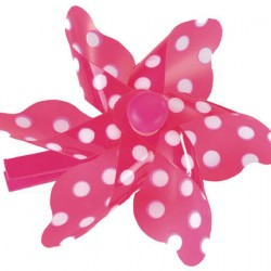 Pegs Pink & White Dot Windmill
