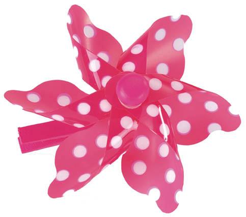 Pegs Pink & White Dot Windmill