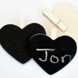 Chalkboard Heart Peg