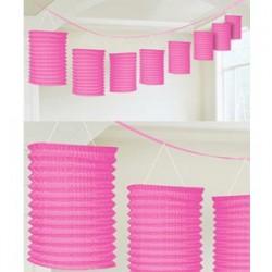 Lantern Garland Pink