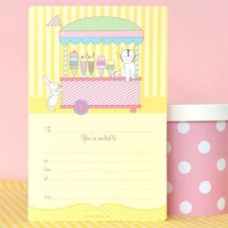 Pretty Ice cream Invitations & Envelopes
