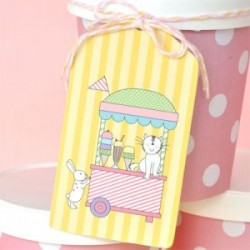 Pretty Ice cream Gift Tags