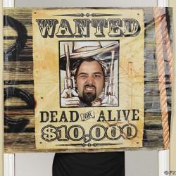 Wanted Dead or Alive Photo Door Banner