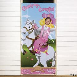 Cowgirl Photo Door Banner