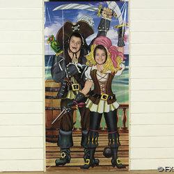 Pirate Couple Photo Door Banner