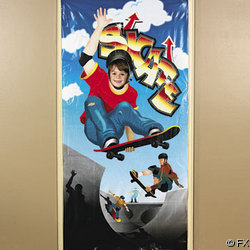 Skateboard Photo Door Banner