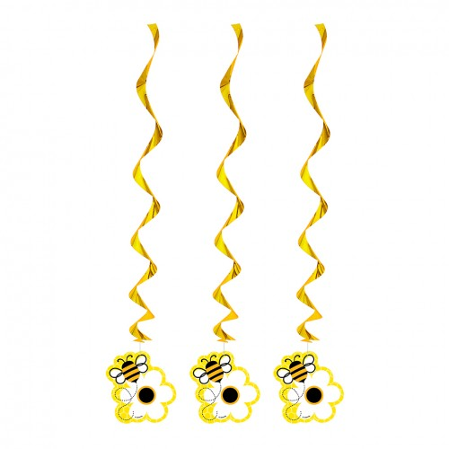 Busy Bee Hanging Swirls