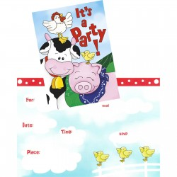 Farm Friends Invitations & Envelopes