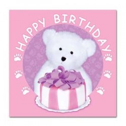 Boyd's Bear 1st Birthday Girl Napkins