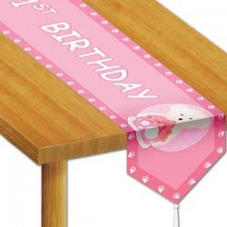 Boyd's Bear 1st Birthday Girl Table Runner