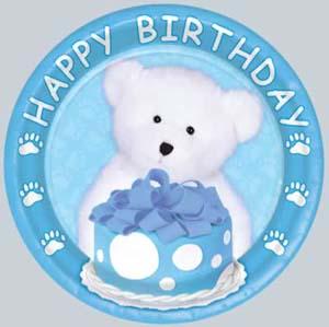 Boyd's Bear 1st Birthday Boy Dessert Plate