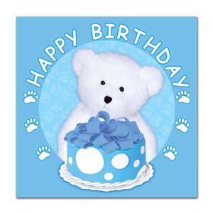 Boyd's Bear 1st Birthday Boy Napkins