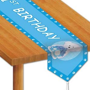 Boyd's Bear 1st Birthday Boy Table Runner