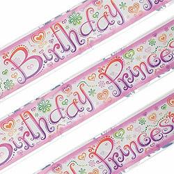 Princess Diva Foil Banner