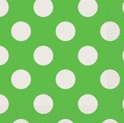Polka Dot Green Napkins