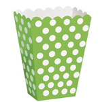 Polka Dot Green Treat Boxes