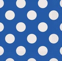 Polka Dot Blue Napkins