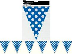 Polka Dot Blue Flag Banner
