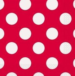 Polka Dot Red Napkins