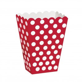 Polka Dot Red Treat Boxes
