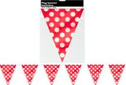 Polka Dot Red Flag Banner