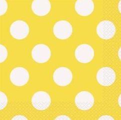 Polka Dot Yellow Napkins
