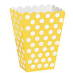 Polka Dot Yellow Treat Boxes