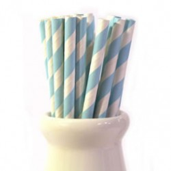 Straws Stripes Blue Mix