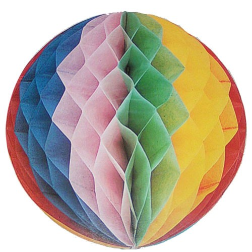 Tissue multi coloured Honey comb Ball