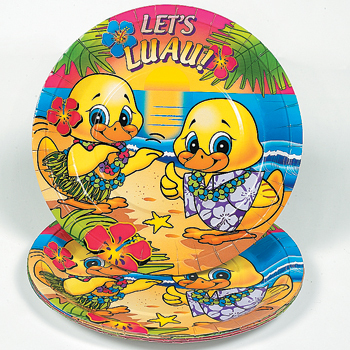 Luau Ducky Plates