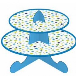 Cake Stand 2 Tier Blue Star