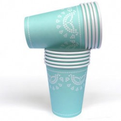 Tiffanesque Blue Cups
