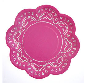 Candy Pink Paper Plates
