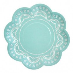 Tiffanesque Blue Plates