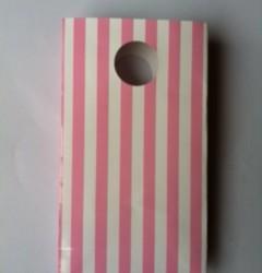 Pink Stripe Loot Bag