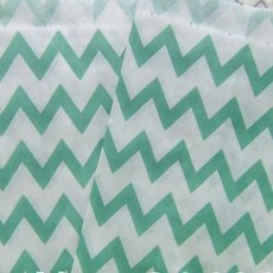 Candy Paper Bag Blue Chevron Print