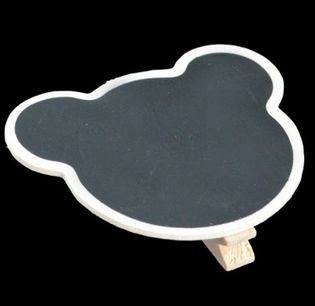 ChalkBoard Teddy Bear Peg