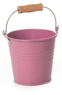 Tin Party Bucket Pink Mini
