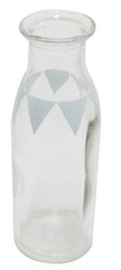 Milk Bottle Blue Grey Flag