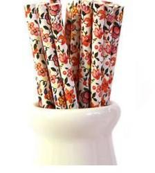 Straws Pretty Floral