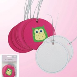 Gift Tag Pink Alice Owl