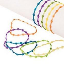 Vinyl Glitter Flower Bracelets